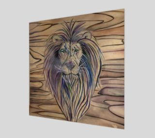 Aperçu de Lion Print on Wood