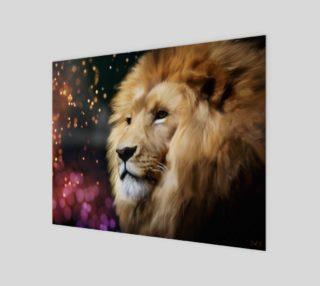"Lion digital painting 14"" x 11"" art print preview"
