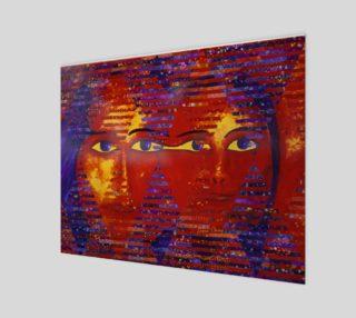 Conundrum III, Abstract Purple Orange Goddess preview