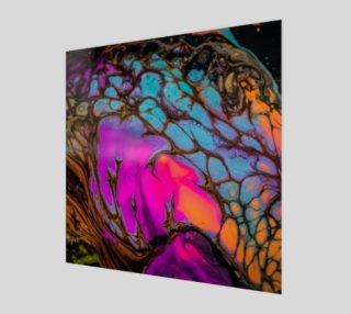 Iridescent cells abstract painting preview