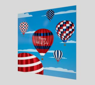 Aperçu de 4th of July Red, White and Blue Hot Air Balloons