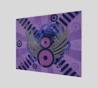 Retro Abstract - Shades of Purple and Black preview