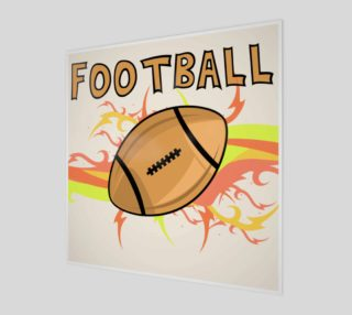 Retro Football Poster - Fun for kids preview