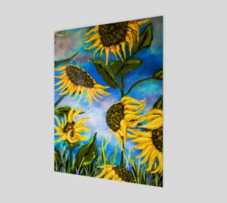 Vibrant Sunflowers 11 x 14 preview