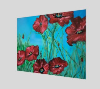Big Red Floral Poppies 20 x 16 preview