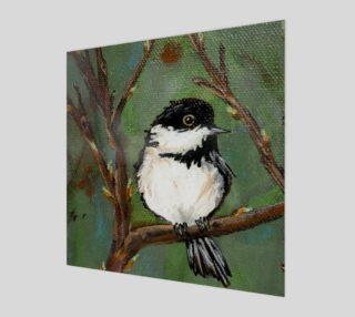 Aperçu de Chickadee Bird Wall Art