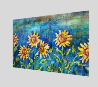 Sunflowers Denim Wall Art preview