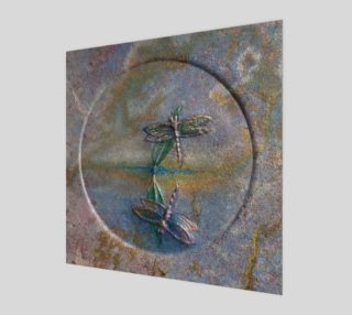 Aperçu de Reflecting Dragonflies Wall Art