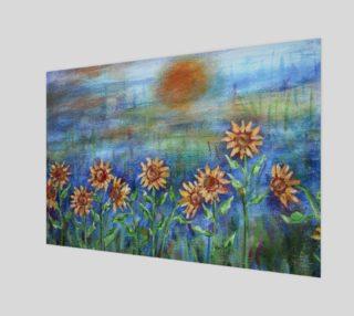 Aperçu de Sunflowers Denim Wall Art