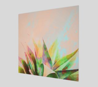 Abstract of cactus on marbled painting preview