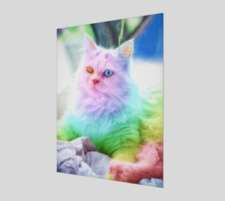 Aperçu de Unicorn Rainbow Cat Wall Art