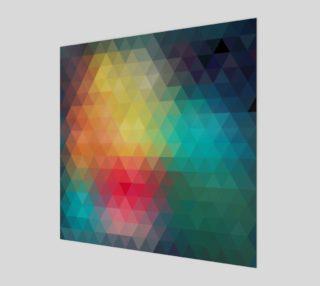 Aperçu de Retro Abstract Multi Color Geometric