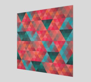 Retro Abstract Coral, Teal, Triangles, Geometric preview