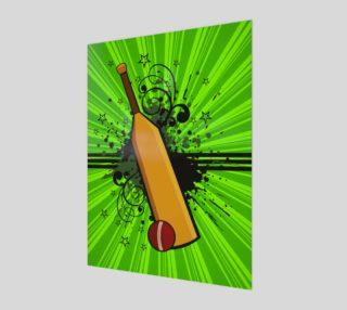 Aperçu de Retro Cricket Poster - Lime Green