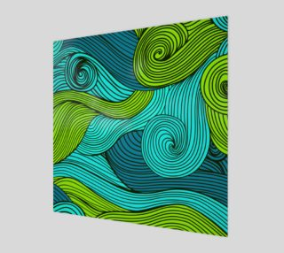 Green, Aqua and Blue Abstract preview
