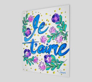 Je t'aime - Expression d'Amour Aquarelle preview