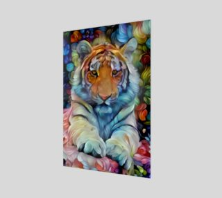 Painted Tiger Wall Art preview