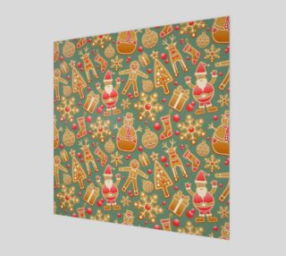 1950 Vintage Gingerbread Christmas Wall Art preview