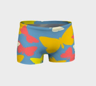 Yellow and Orange Butterflies on Blue Shorts preview