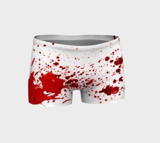 Blood Splatter First Cosplay Halloween Shorts preview