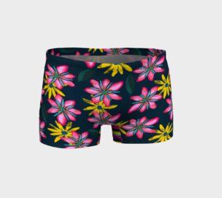 Flower Splash on Dark Teal - Shorts preview