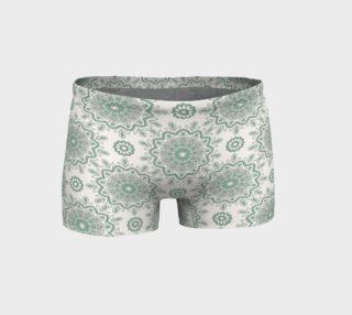 Mystic Mandala Green Shorts preview