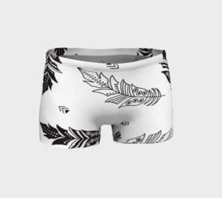 Black & White Feather Shorts preview
