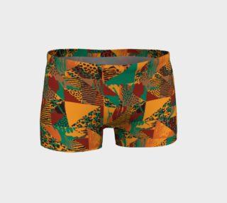 Abstract Safari Print Shorts preview