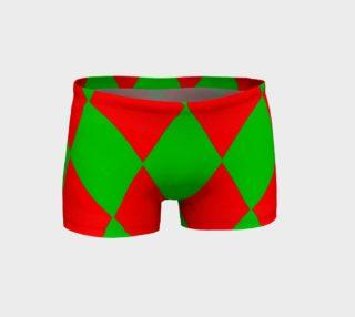 Christmas Harlequin Diamond Shorts preview