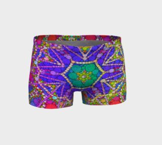 Multi Color Abstract Fitness Shorts  preview