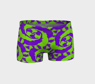 Neon Green Blue Fitness Shorts  preview
