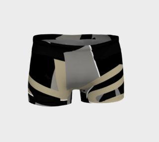 Black Tan Geometric Fitness Shorts  preview