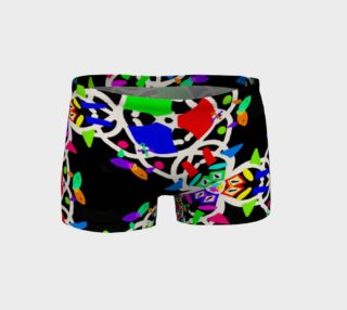 Florescent Messy Doodle Fitness Shorts  preview