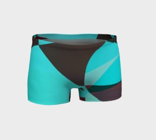 Turquoise Swirls Geometric Fitness Shorts  preview