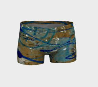 Blue Squiggle Workout Shorts preview