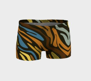 Brown Blue Animal Print Booty Fitness Shorts  preview