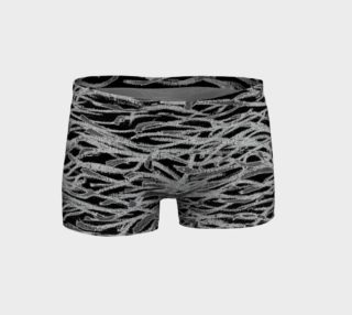 Aperçu de Black and White Abstract Lines Shorts