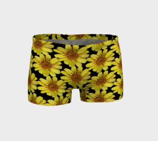 Crazy Yellow Flower Shorts 160903 preview