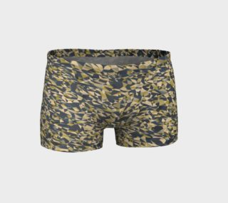 Geometric Dark Brown Camouflage Shorts preview