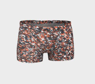 Geometric Red Camouflage Shorts preview