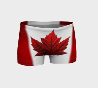 Aperçu de Canada Flag Shorts Canadian Souvenir Shorts