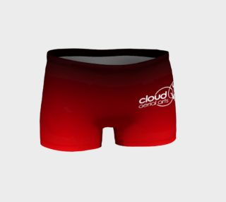Aperçu de ombre shorts black red