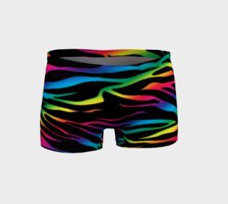 Rainbow Zebra Shorts preview