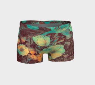shorts flowers  green preview