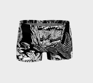 Old Growth Forest Art Shorts B&W Landscape Art Shorts preview
