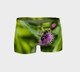 Aperçu de A Bee on a Purple Flower Shorts