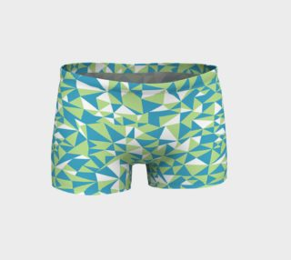 Blue and Green Geometrics Boy Short preview