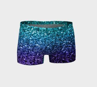 Beautiful Aqua blue Ombre glitter sparkles preview