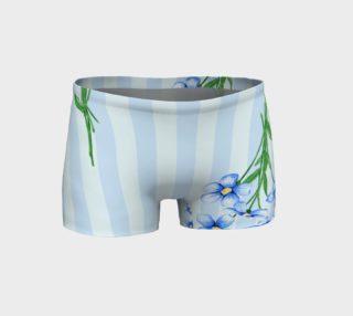 Aperçu de Blue Flowers on Blue Stripes
