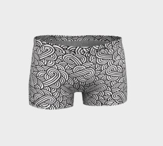 Aperçu de Black and white swirls doodles Shorts